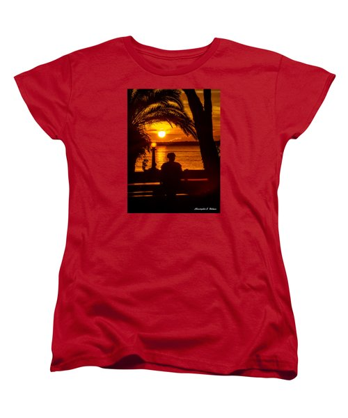 Women's T-Shirt (Standard Cut) featuring the photograph Eustis Sunset by Christopher Holmes