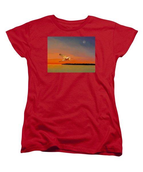 Evening Flight Women's T-Shirt (Standard Cut) by David  Van Hulst