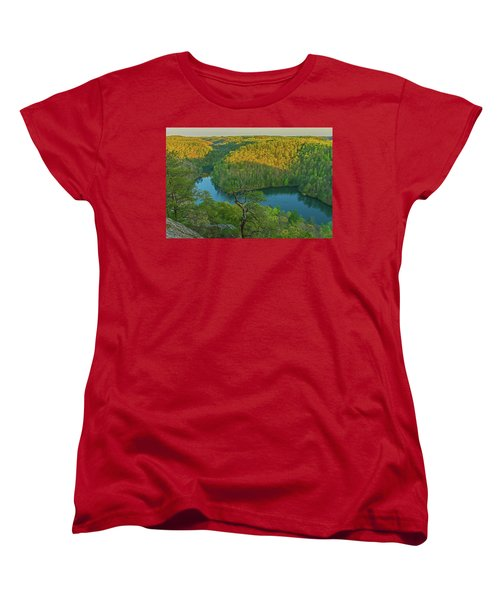 Evening Light In The Hills. Women's T-Shirt (Standard Cut) by Ulrich Burkhalter
