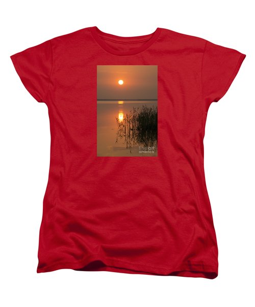 Women's T-Shirt (Standard Cut) featuring the photograph Evening Reflections by Inge Riis McDonald