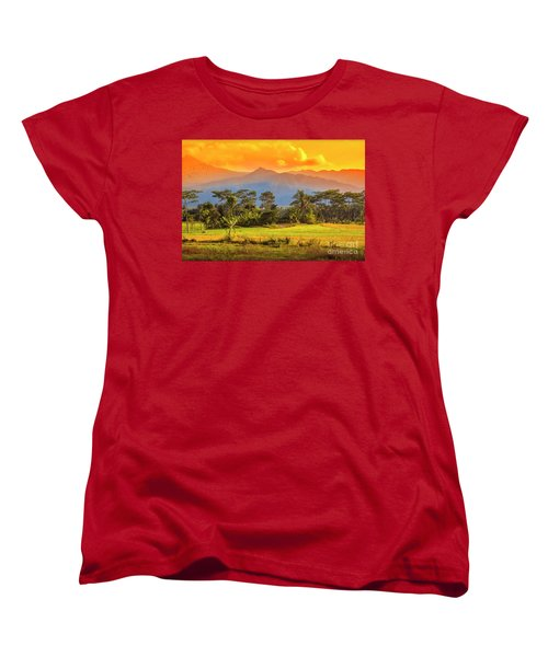 Women's T-Shirt (Standard Cut) featuring the photograph Evening Scene by Charuhas Images