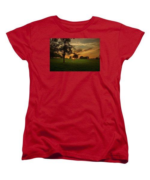 Women's T-Shirt (Standard Cut) featuring the photograph Evening Sun Over Brockwell Park by Lenny Carter