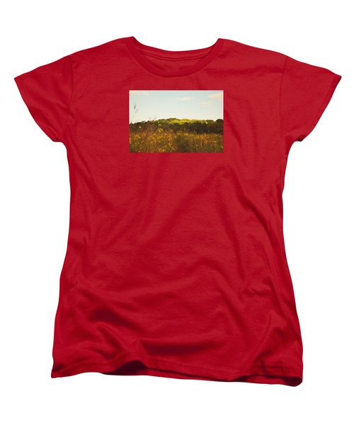 Women's T-Shirt (Standard Cut) featuring the photograph Evening Sunset Glow by Nikki McInnes