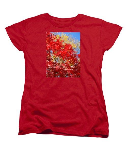 Every Leaf Is A Flower Women's T-Shirt (Standard Cut) by Deborah Dendler