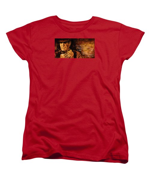 Women's T-Shirt (Standard Cut) featuring the painting Everybody Knows by Igor Postash