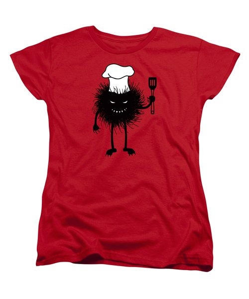 Evil Bug Chef Loves To Cook Women's T-Shirt (Standard Cut)
