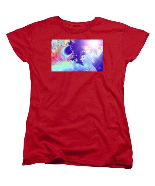 Women's T-Shirt (Standard Cut) featuring the digital art Evolving Universe by Ute Posegga-Rudel