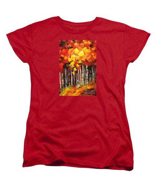 Women's T-Shirt (Standard Cut) featuring the painting Exaltant by Tatiana Iliina