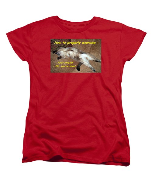Women's T-Shirt (Standard Cut) featuring the photograph Exercise 101 by Betty Northcutt