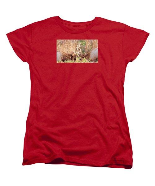 Women's T-Shirt (Standard Cut) featuring the photograph Face Off by Todd Kreuter