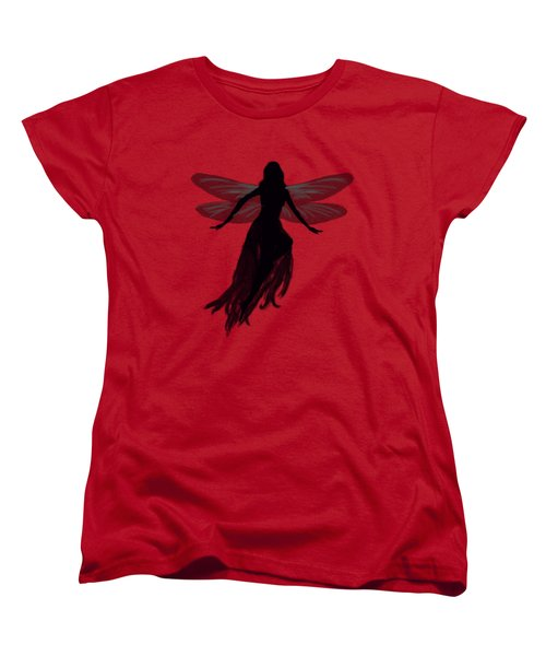 Fairy Silhouette Women's T-Shirt (Standard Cut) by Tom Conway