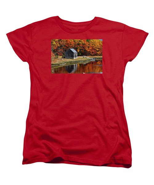 Fall At Rye Women's T-Shirt (Standard Cut) by Tricia Marchlik