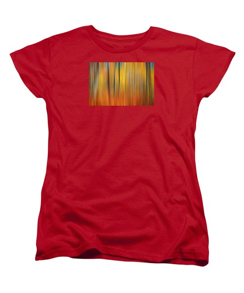Fall Colors Digital Abstracts Women's T-Shirt (Standard Cut) by Rich Franco