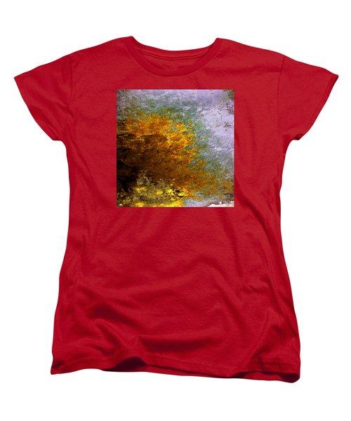 Women's T-Shirt (Standard Cut) featuring the digital art Fall Foliage by John Krakora