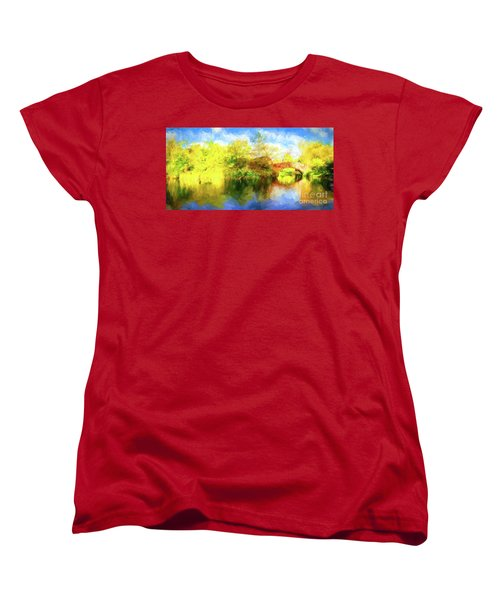Women's T-Shirt (Standard Cut) featuring the photograph Fall In Central Park by Jim  Hatch
