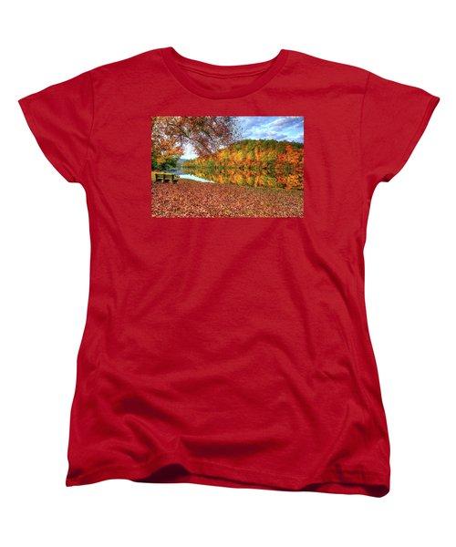 Women's T-Shirt (Standard Cut) featuring the digital art Fall In Murphy, North Carolina by Sharon Batdorf