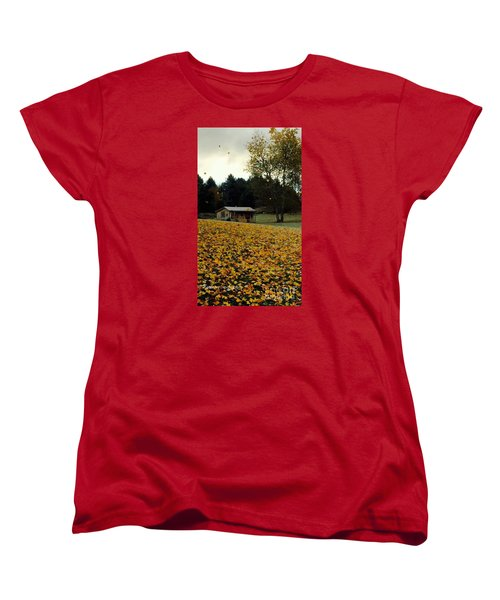 Women's T-Shirt (Standard Cut) featuring the photograph Fall Leaves - No. 2015 by Joe Finney