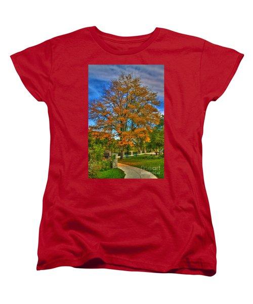 Fall On The Walk Women's T-Shirt (Standard Cut) by Robert Pearson