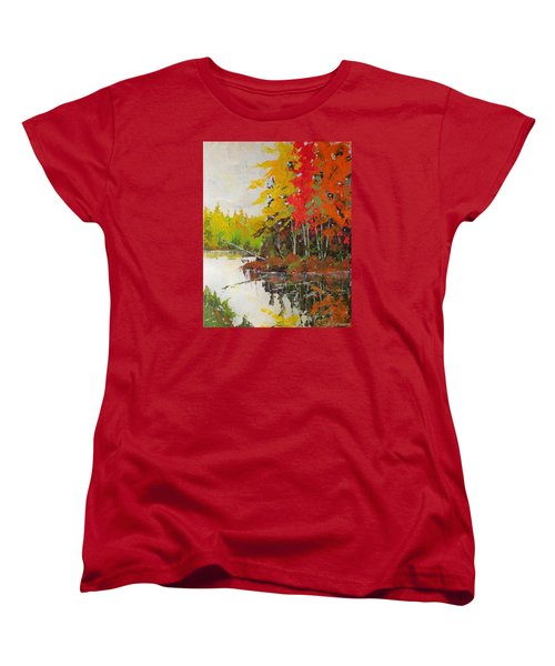 Fall Scene Women's T-Shirt (Standard Cut) by David Gilmore
