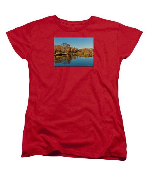 Fall Scene Women's T-Shirt (Standard Cut) by Mikki Cucuzzo