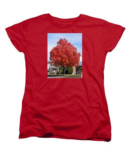 Fall Season Women's T-Shirt (Standard Cut) by Suhas Tavkar