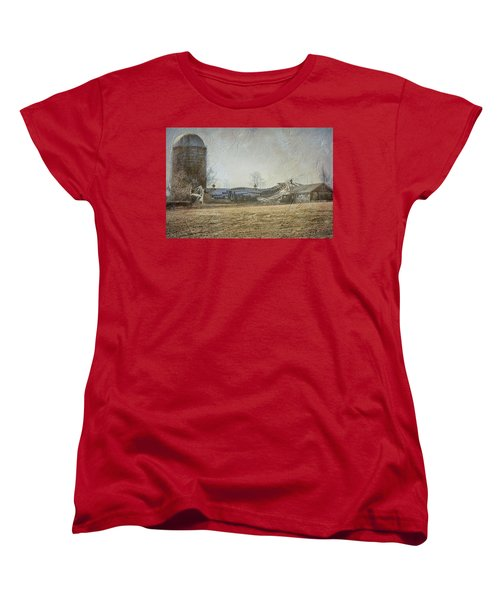 Fallen Barn  Women's T-Shirt (Standard Cut) by Betty Pauwels