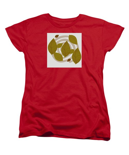 Falling Leaves Women's T-Shirt (Standard Cut)