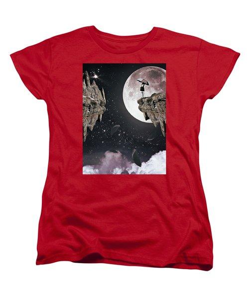 Falling Women's T-Shirt (Standard Cut) by Mihaela Pater