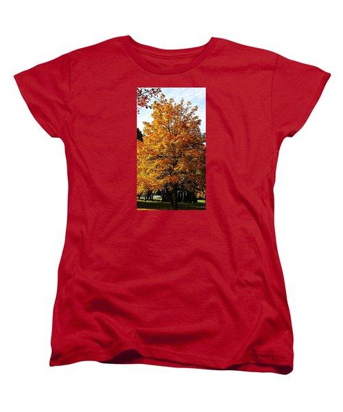 Fallish Yellowish Women's T-Shirt (Standard Cut) by Jana E Provenzano