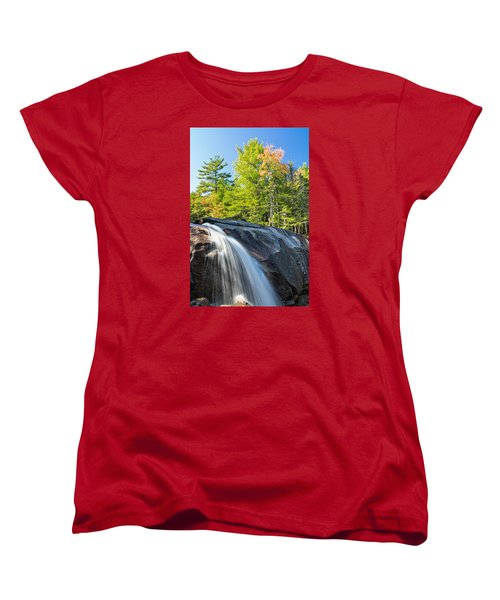 Falls Diana's Baths Nh Women's T-Shirt (Standard Cut) by Michael Hubley