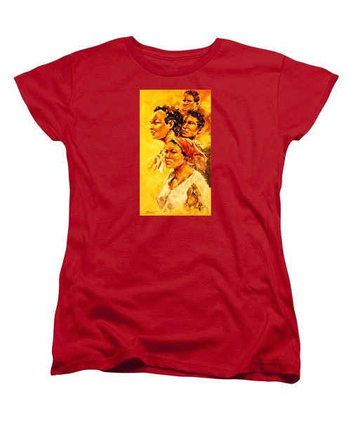 Women's T-Shirt (Standard Cut) featuring the painting Family Ties by Al Brown