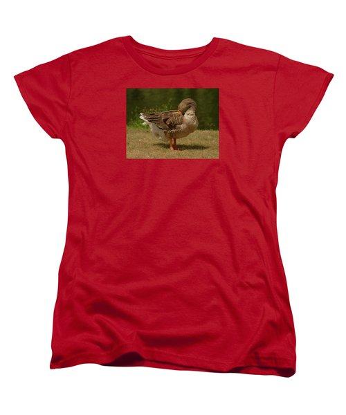 Women's T-Shirt (Standard Cut) featuring the photograph Fancy Goose by Ramona Whiteaker
