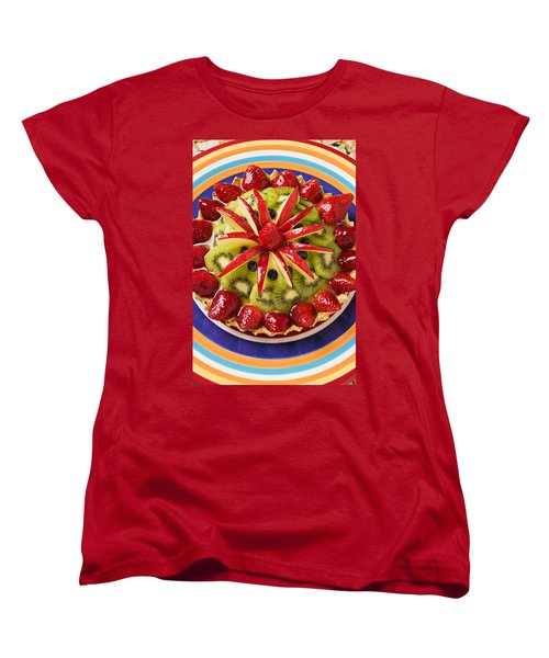 Fancy Tart Pie Women's T-Shirt (Standard Cut) by Garry Gay