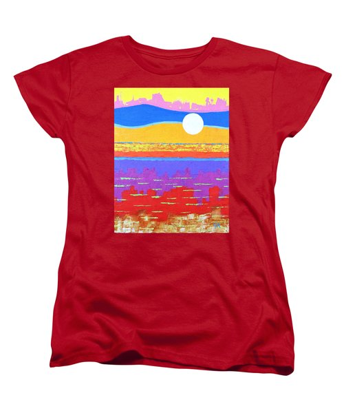 Fauvist Sunset Women's T-Shirt (Standard Cut) by Jeremy Aiyadurai