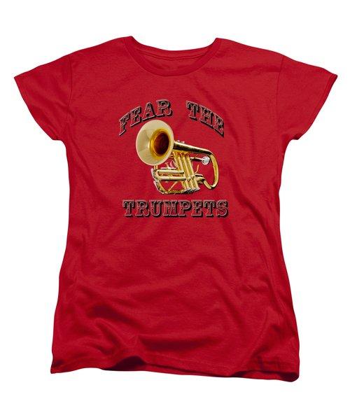 Fear The Trumpets. Women's T-Shirt (Standard Cut) by M K  Miller