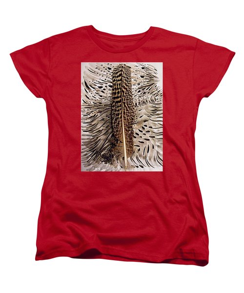 Feather Women's T-Shirt (Standard Cut) by Nancy Kane Chapman