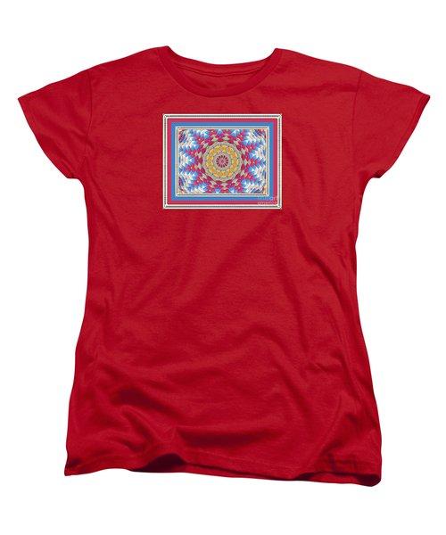 Feathered Star Quilt Women's T-Shirt (Standard Cut) by Shirley Moravec