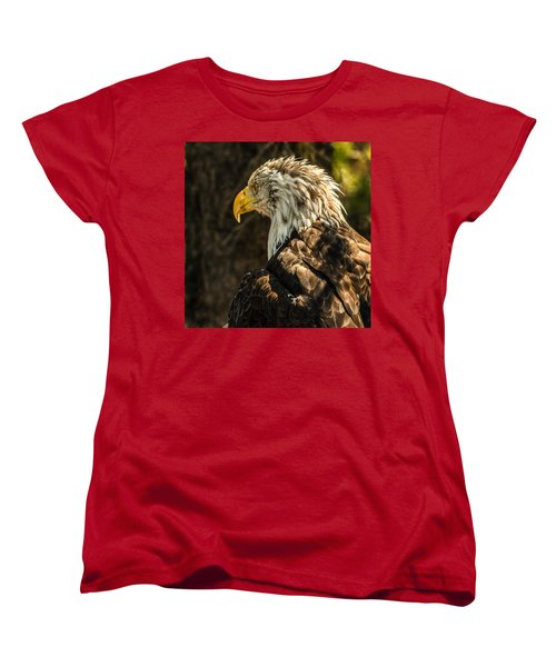 Women's T-Shirt (Standard Cut) featuring the photograph Feathers In Light by Yeates Photography