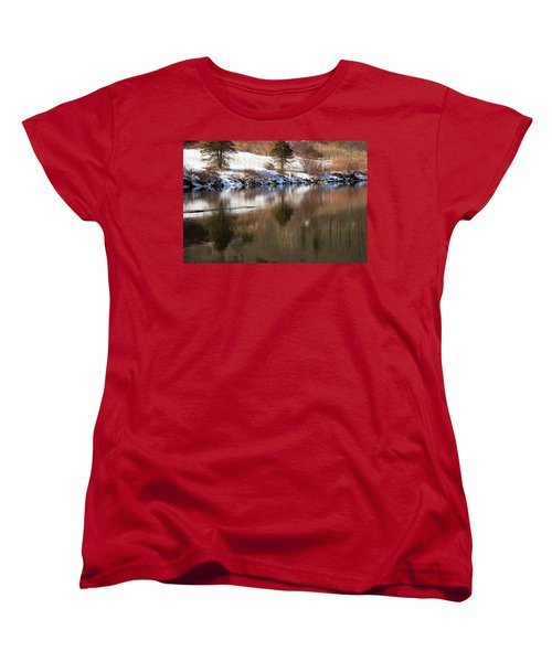 Women's T-Shirt (Standard Cut) featuring the photograph February Reflections by Karol Livote