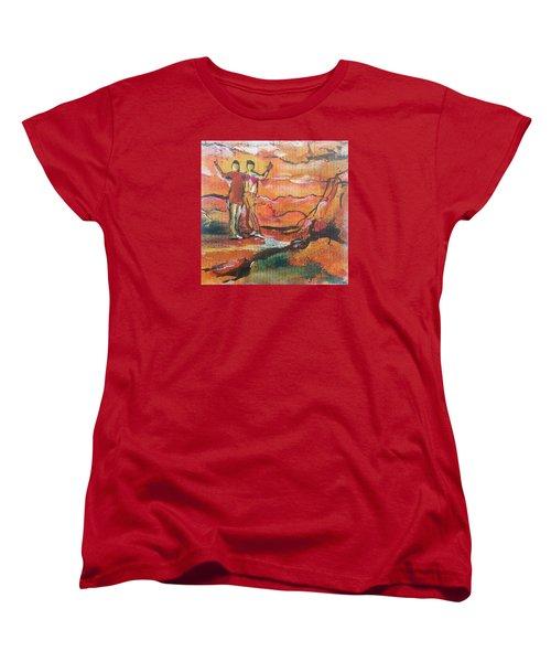 Feel The Warm Women's T-Shirt (Standard Cut) by Becky Chappell