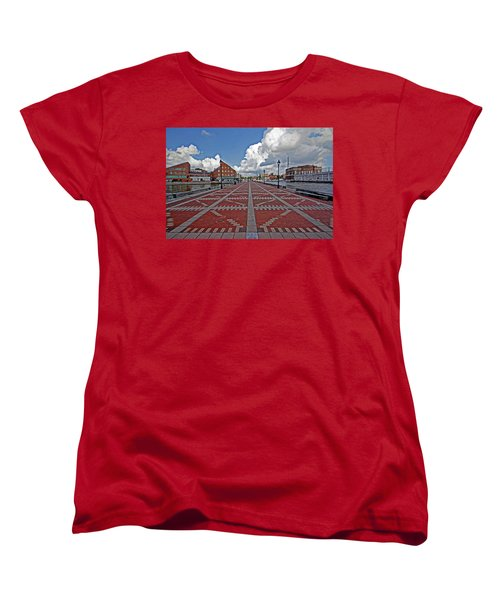 Fells Point Pier Women's T-Shirt (Standard Cut) by Suzanne Stout