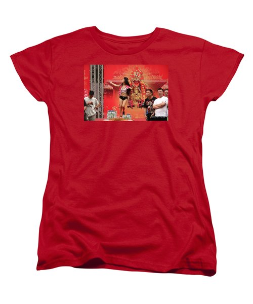 Women's T-Shirt (Standard Cut) featuring the photograph Female Dancer At A Temple Ceremony by Yali Shi