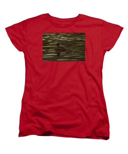 Women's T-Shirt (Standard Cut) featuring the photograph Female Wigeon by Jeff Swan