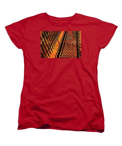 Fenced Framework Women's T-Shirt (Standard Cut) by Don Gradner