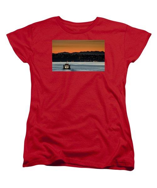 Ferry Sealth At Dawn Women's T-Shirt (Standard Cut) by E Faithe Lester