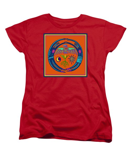 Women's T-Shirt (Standard Cut) featuring the digital art Fertility Dance by Vagabond Folk Art - Virginia Vivier