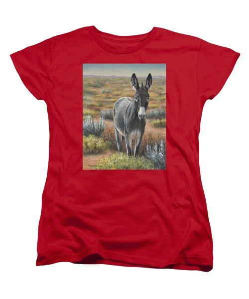Women's T-Shirt (Standard Cut) featuring the painting Festus by Kim Lockman