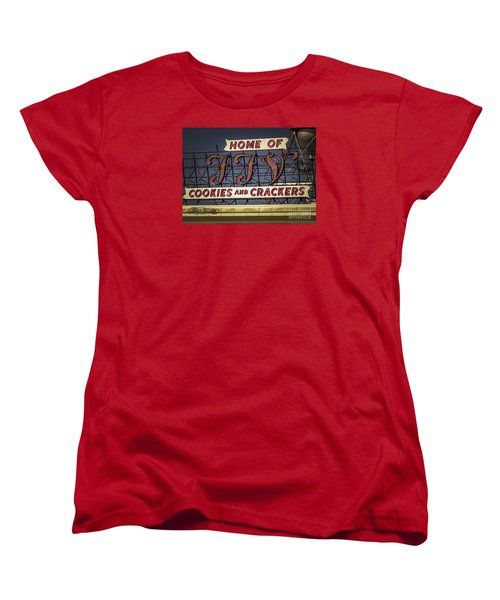 Women's T-Shirt (Standard Cut) featuring the photograph Ffv - Cookie And Cracker Factory by Melissa Messick