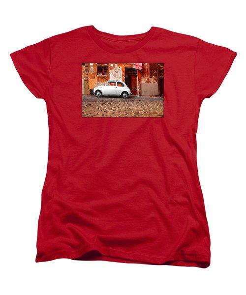 Fiat 500 Women's T-Shirt (Standard Cut) by Valentino Visentini