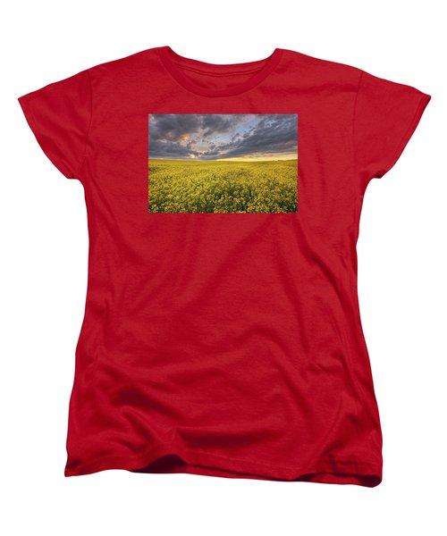 Women's T-Shirt (Standard Cut) featuring the photograph Field Of Gold by Dan Jurak